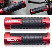 """Accessories Aluminum Universal 7/8""""22mm Motorcycle Scooter Moto Handle Bar Grips Hand Bar grip For KTM RC390 RC 390 2014 2018"""