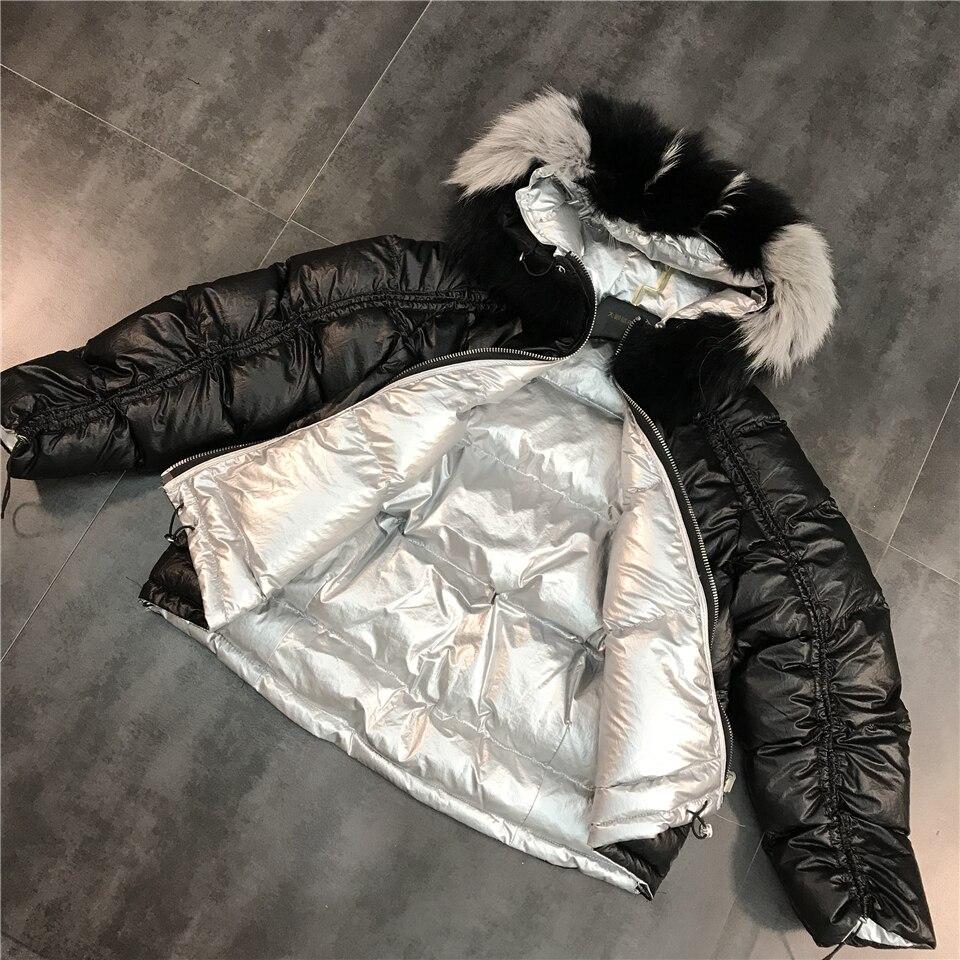 Col Dés rose Nouvelle Correspondance Fourrure 2018 or Mode Noir Couleurs Lumineux Coton face Hiver Chaud Veste De Double Des Parka wq5wI8xH