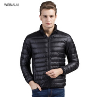 ultralight down coat for men men's winter jackets long sleeve mongler doudoune homme Unjaket Goose Down white duck down jacket