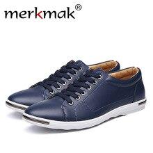 816d831e Merkmak Hombre Zapatos Casual moda masculina clásica Lace up negro blanco  rojo amarillo estudiante cómodo zapatillas