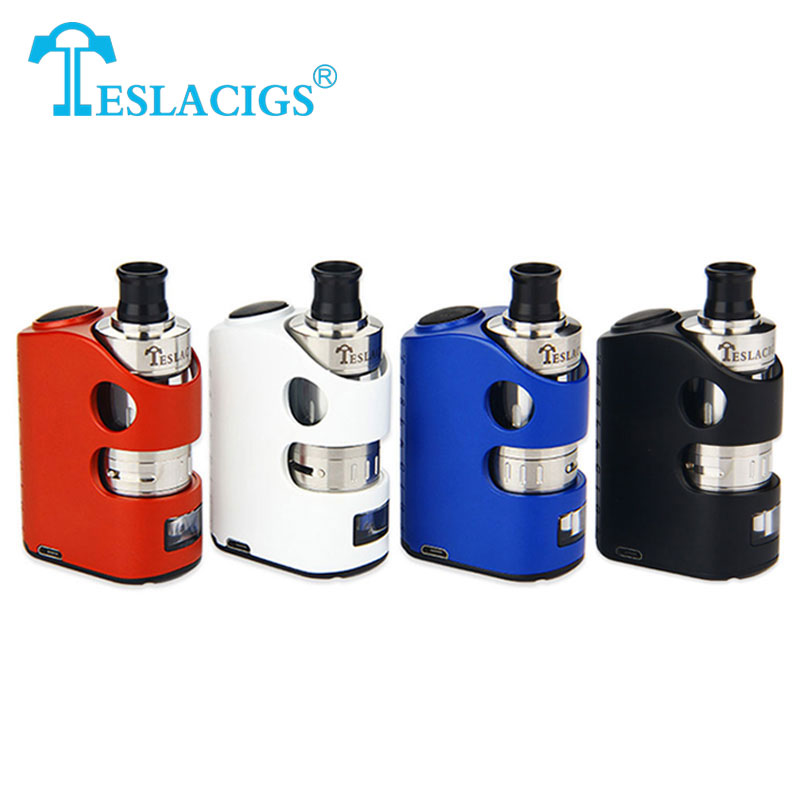 Original Teslacigs Stealth 40W TC Kit 1300mAh Built-in Battery with Shadow Tank 2ml Stealth Box Mod Pro Pass-through Vaping eric barr j valuing pass through entities