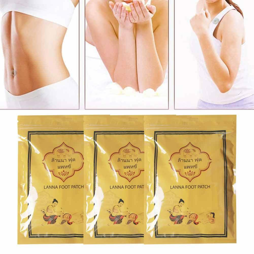 10Pc Thailand LANNA traditionellen Leckerbissen Detoxify Toxins Adhesive Keeping Fit Organic Herbal Patches Foot Patch Pads