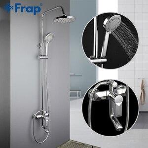 Image 2 - FRAP ห้องน้ำชุดก๊อกน้ำอ่างอาบน้ำก๊อกน้ำ Shower TAP อาบน้ำก๊อกน้ำหัวฝักบัวชุด Mixer torneira