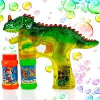 Динозавр пузыри стрелковый пистолет свет выдувальщик пузырьков с светодиодный мигалками и звуки динозавров игрушки для детей, мальчиков и ...