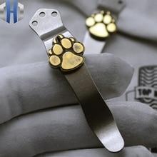 Steel Fire Back Pocket Clip ZT Titanium Alloy EDC Tools