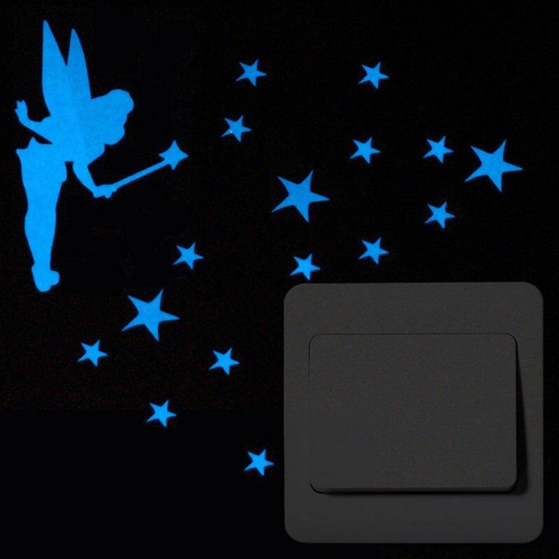 1 шт./пакет Лидер продаж синий светящиеся наклейки разнообразие стилей дополнительно переключатель наклейки мультфильм туалет люминесцент...