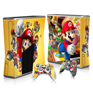 Image 2 - For Super Mario Skin Sticker Decal For Xbox 360 Slim Console and Controllers Skins Stickers for Xbox360 Slim Vinyl