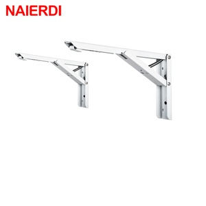 Image 5 - NAIERDI 2PCS 삼각형 접는 각도 브래킷 무거운 지원 조정 가능한 벽 마운트 벤치 테이블 선반 브래킷 가구 하드웨어