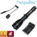 UniqueFire UF-1508 T38 объектив СВЕТОДИОДНЫЙ XM-L2 светильник вспышка светильник задний колпачок переключатель черный фонарь + дистанционное давление ...