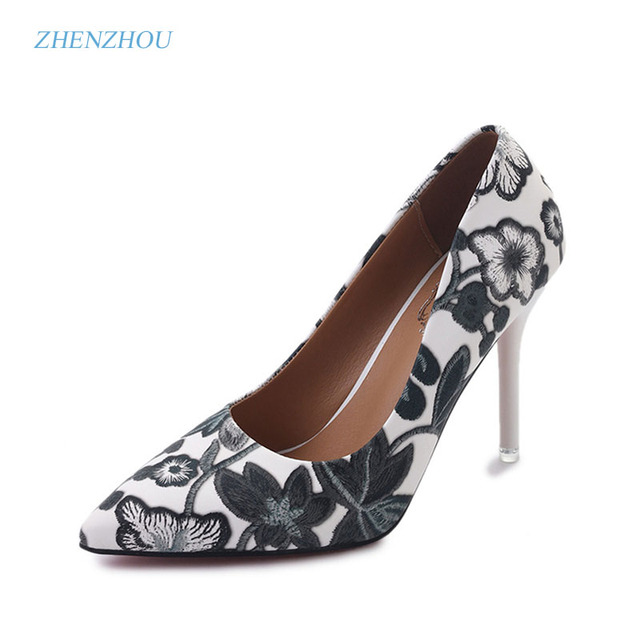 zhenzhou Women's shoes summer of 2017, the new European pointy, sexy, slenders with a high-heeled shoes