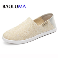 Women Flat Loafers Shoes 2018 New Summer Lace Shallow Mouth Ladies Branded Shoes Woman Breathable Sandals