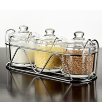 Kitchen Food Condiment Box Acrylic Plastic Seasoning Jars Transparent Plexiglass Storage Bottle