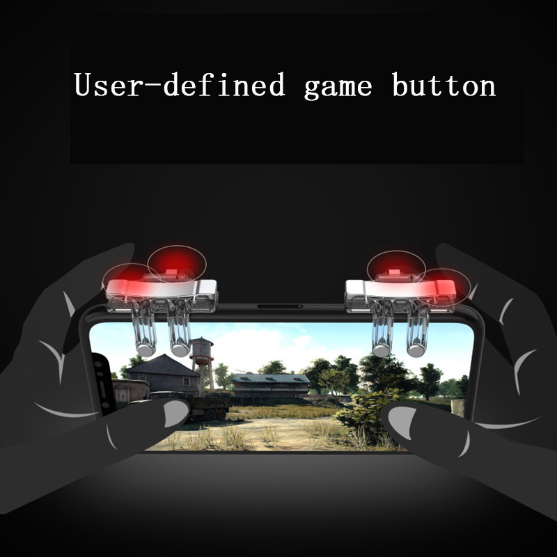 Image 5 - 2PCS PUBG Gaming Trigger Fire Button Mobile Controller L1R1 Shooter Mobile Joysticks Game Gamepad Controller For iphone Xiaomi-in Gamepads from Consumer Electronics
