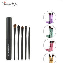 Professional 5pcs Eye Brushes Cosmetic Makeup Brush Set Powder Foundation Eyeshadow Eyeliner Lip Brush Kit Make Up Brushes Tools