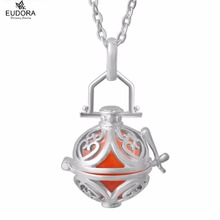 H192S NO CHIME Birthstone Natural Stone 20'' Silver Plated Necklace Silver Locket Pendant for women no stone unturned
