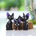Anime Filme Meu Vizinho Totoro Hayao Miyazaki Kiki Minifigures Miniatura Totoro Gato Decoração de Casa Figura Brinquedos de Natal