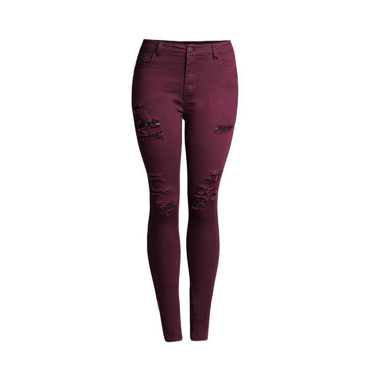 Online Get Cheap Burgundy Jeans Women -Aliexpress.com  Alibaba Group