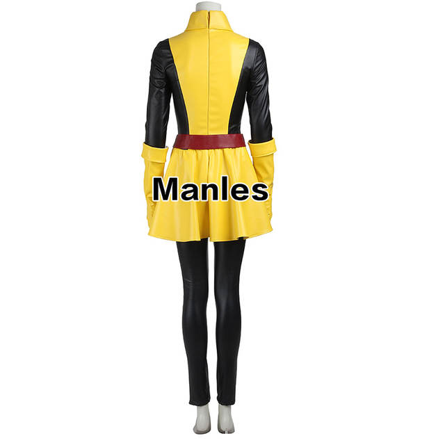 placeholder Marvel X-Men Magik Cospaly Costume Comics Superhero Outfit  Yellow Dress Adult Women Full Set 9a81062c6