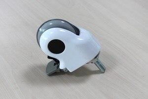 Image 2 - 3 дюйма, Медицинские Ролики/колеса с тормозом, прозрачное беззвучное колесо для медицинского оборудования, винт M12x30, для больничного оборудования