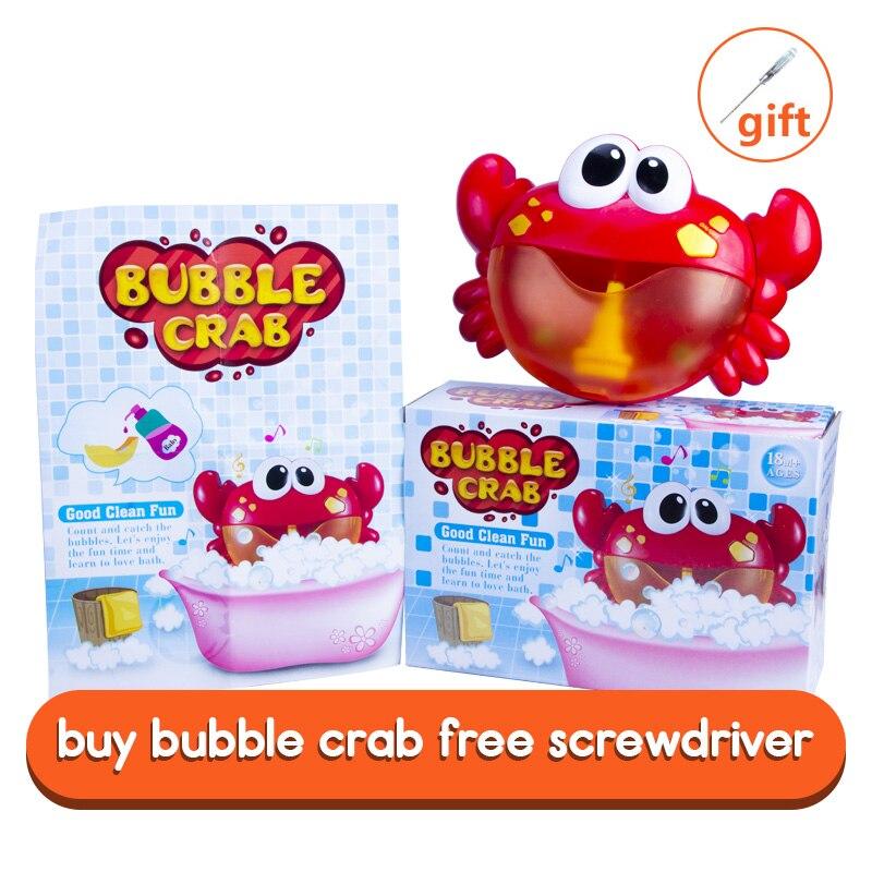 Dropship Neue Blase Krabben Bad Spielzeug für Kinder mit Sauger Maker Musik Bad Dusche Pool Badewanne Seife Schwimmen Kind Oyuncak