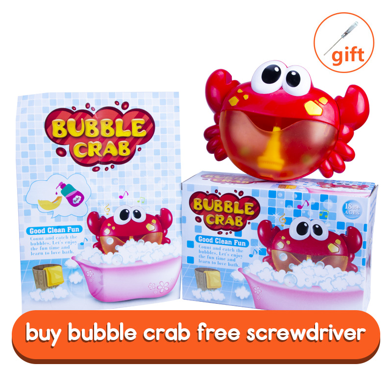 Dropship New Bubble Crabs Bath Toy for Children with Sucker Maker Music Bathroom Shower Pool Bathtub