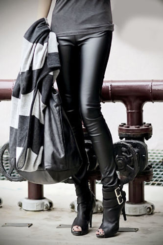 1b695dbffeb68 2016 new fashion Hot Sexy Women's Faux Leather Wet Look PU Tight Shiny  Pants Black trousers-in Pants & Capris from Women's Clothing on  Aliexpress.com ...