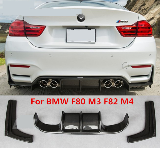 For BMW F80 M3 F82 M4 2013.2014.2015.2016.2017 Carbon Fiber Rear Lip Spoiler High Quality Auto Bumper Diffuser image