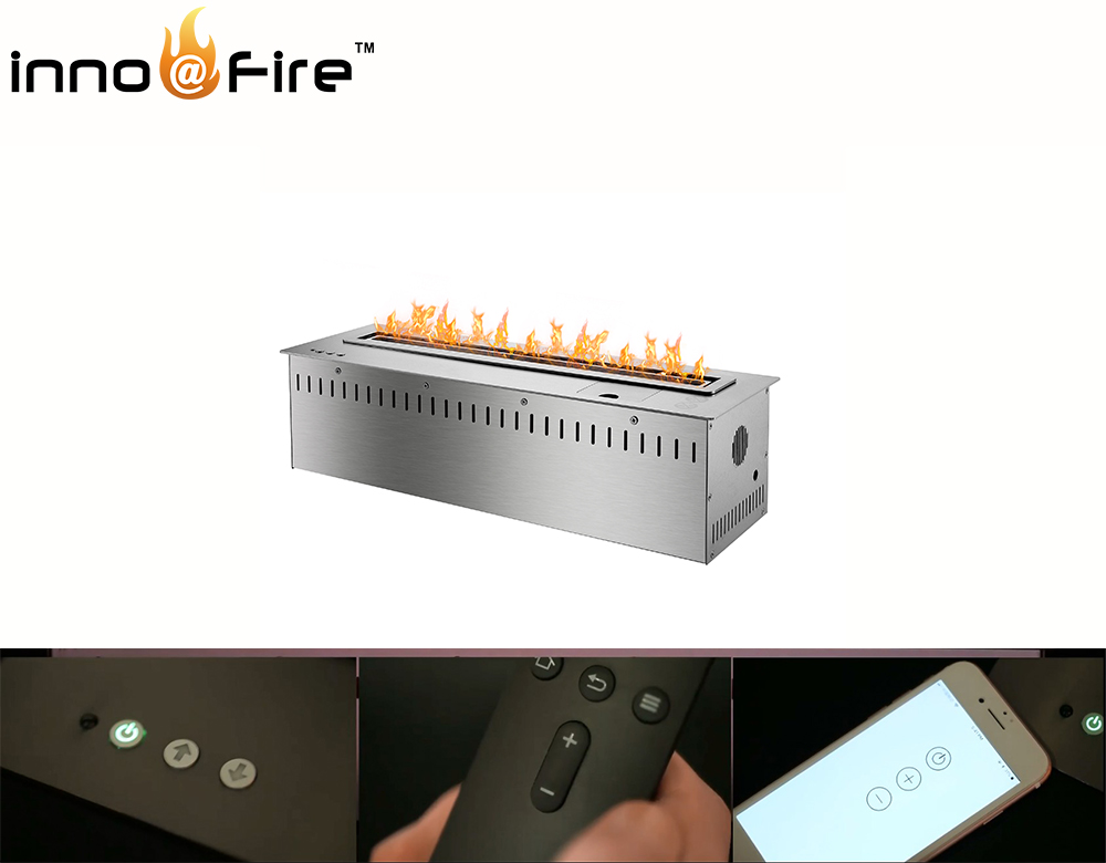 On Sale 48 Inch Silver Remote Control Intelligent Wifi Electric Fireplace Bioethanol