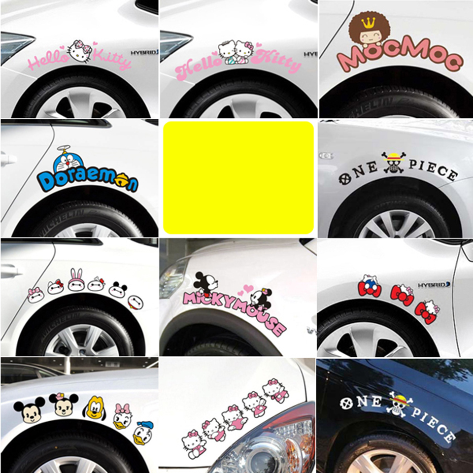 Pink Cartoon KitCar Stickers And Decals For Door Mirror Window Body Interior OCT 40-in Car Stickers from Automobiles & Motorcycles