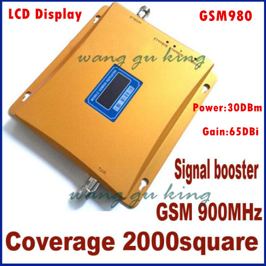 1PCS Hot Sale! LCD Display GSM980 900MHz Gain 65dBi Mobile Phone Signal Amplifier Booster Repeater 2000 Square Meter Amplifier