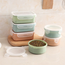 Healthy Material Wheat Straw Bento Boxes Kitchen Dinnerware Food Storage Container Portable Kids Student