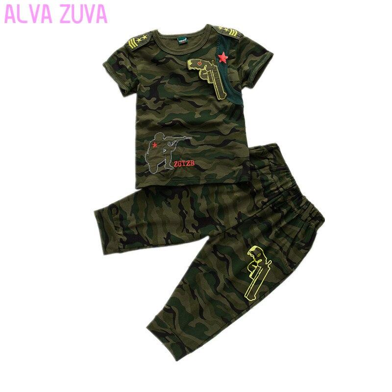 new 2017 korean summer style  children camouflage suit boys t shirts+shorts 2pc/sets kids clothes clt078 big teenage boys clothes set summer 2017 kids colorful striped t shirts