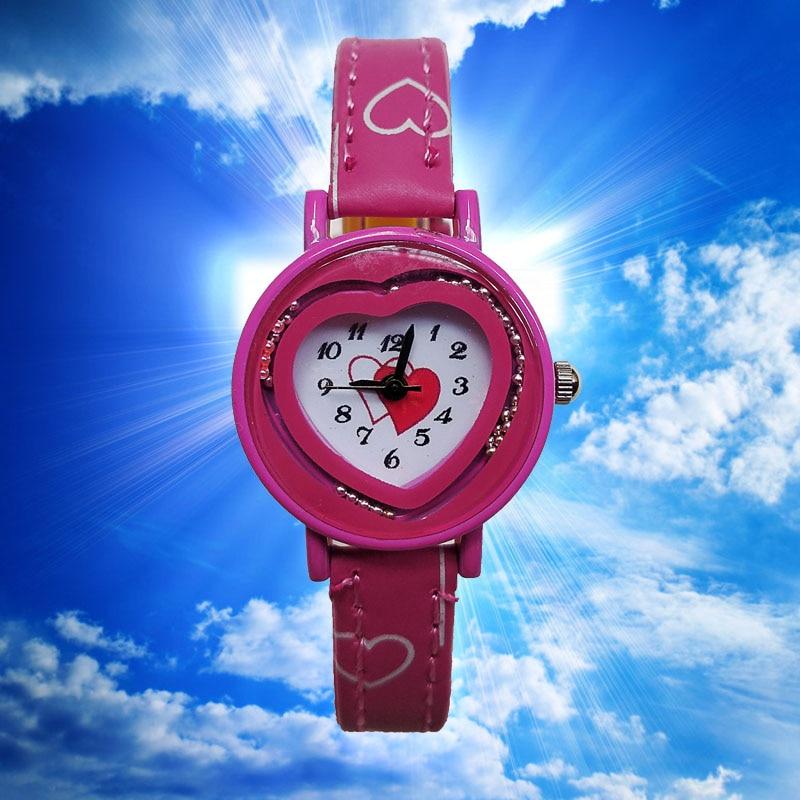 2019 New Small Strap Children Watches Fashion Love Heart Women Watch For Girls Kids Bracelet Clock Wholesale Lots Bulk Watches