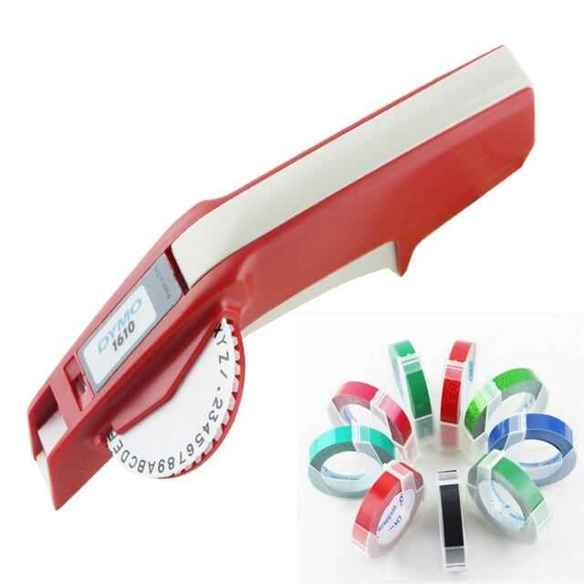 Impressora de etiquetas dymo 3d 1610 3 pz misturado preto, vermelho e azul 9mm 3d plástico gravando xpress manual etiqueta estéreo rotulação mach