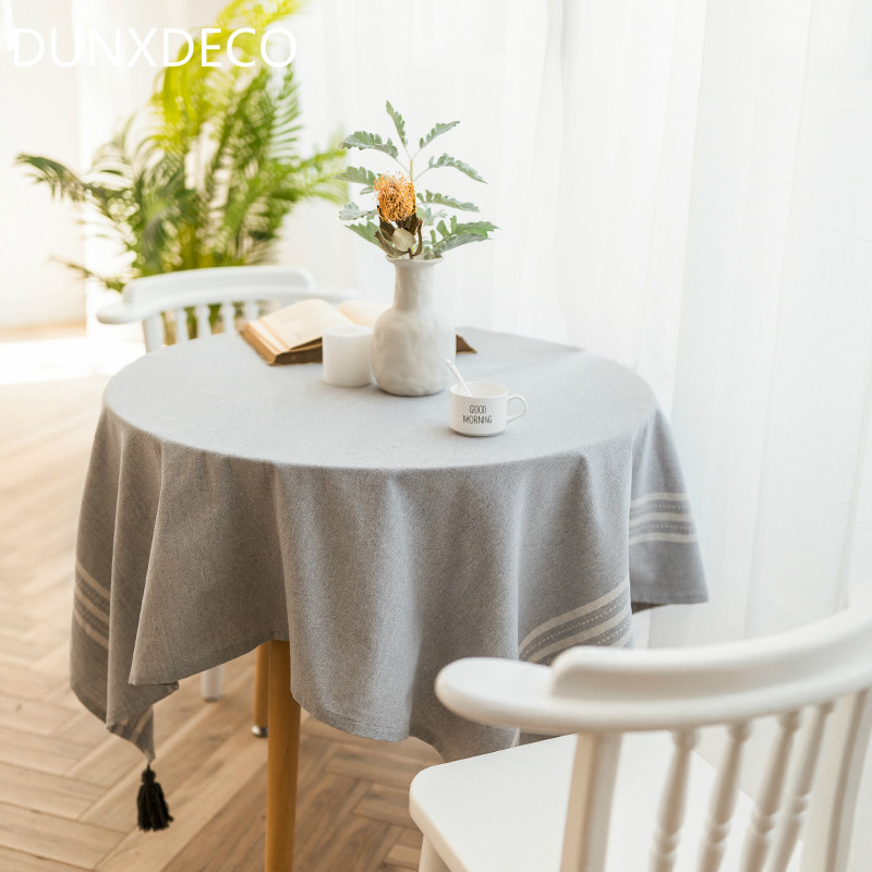 Aliexpress.com : Buy DUNXDECO Tablecloth Round Table Cover