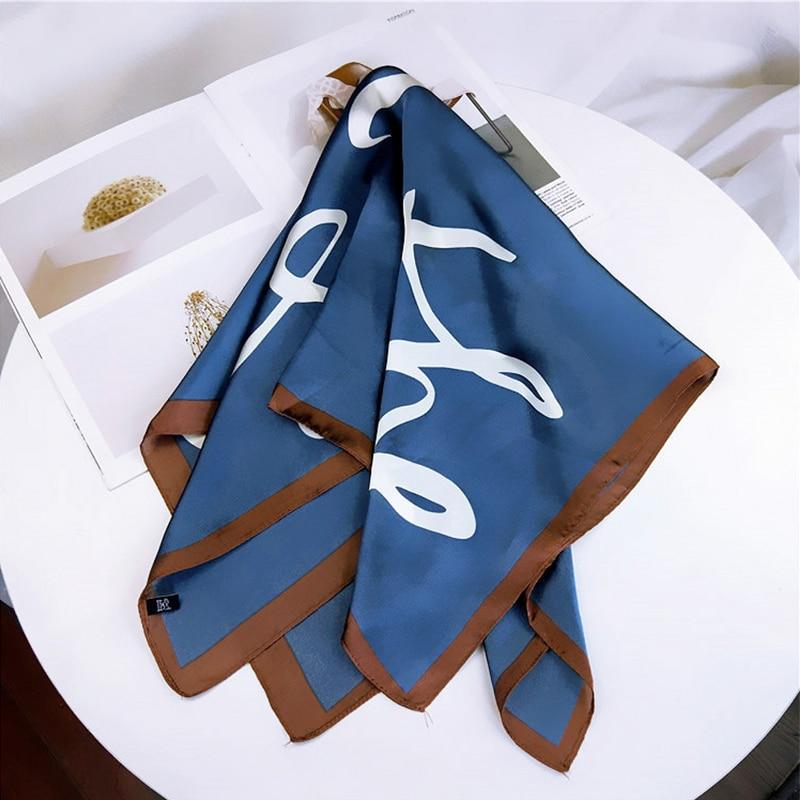Fashion Women Square   Scarf   Letters Love Print Silk Shawl Scarfs Foulard Handkerchief Head Neck   Scarves     Wraps   Female 70*70cm