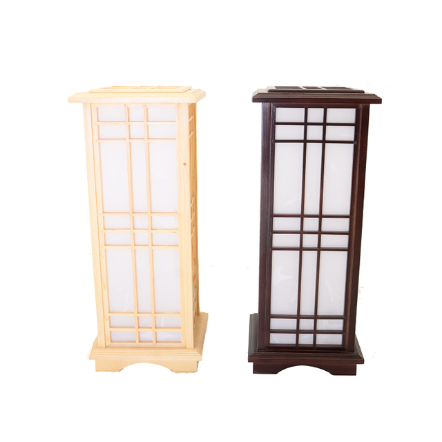 Japanese Style Floor Lamp Wood Light Indoor Lighting Home Decorative Design  Lantern E27 Floor Lamp Wood