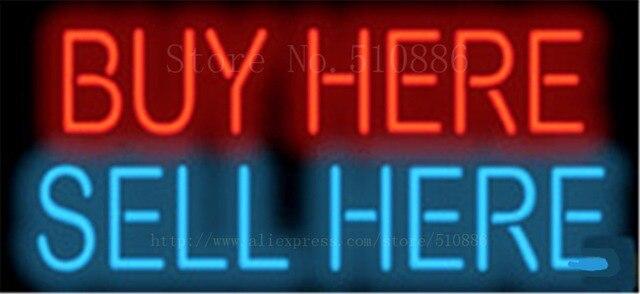 """KAUFEN Hier Verkaufen Hier Businese Rohr Neon sign Bier Club Handcrafted Automotive zeichen Shop Shop Business Schild Signage 17 """"x 14"""""""