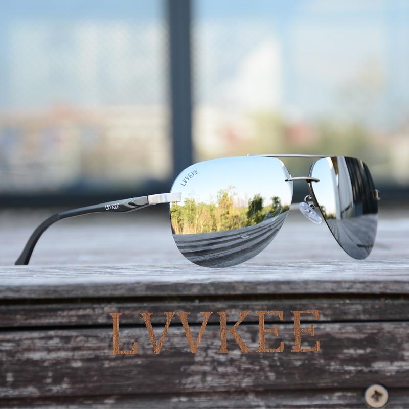 2017 NYA LVVKEE Aviator solglasögon HD polariserade män Mirror - Kläder tillbehör - Foto 1