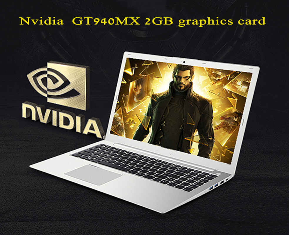 15.6inch gaming laptop computer Core I7 6500U dedicated graphics 8GB 256GB SSD + option 1TB HD ultrabook notebook 1
