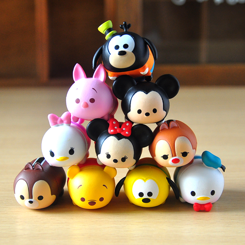 Toys & Hobbies Diplomatic Disney Anime Toys 10 Pcs/lot Tsum Tsum Cute Mini Minnie Mickey Mouse Winnie Dumbo Figures Pvc Dolls Juguetes For Chirldren Gifts