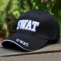 "Embroideried ""SWAT"" Caps Outdoor Sports Black Tactical Hats Baseball Cap Men Women Casquette Gorras Curved Brim Snapback Caps"