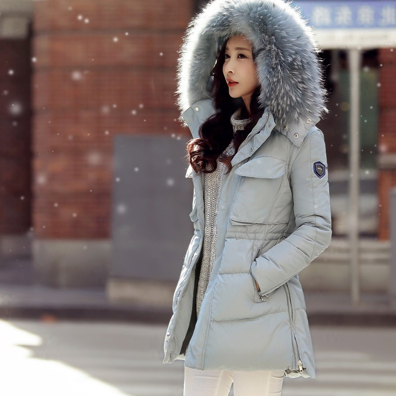Winter jackets for women 2015 New women long down jacket black ...