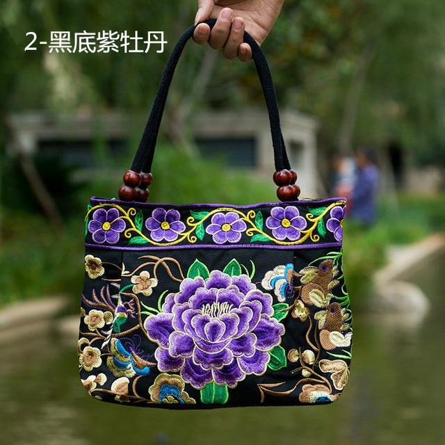 nova tendência nacional pequena lona Tipo : Women Canvas Embroidery Bag