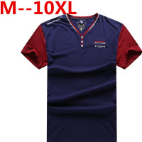 10XL 9XL 8XL 6XL Man'S T Shirt Solid Color Men Tshirt Double Button Fun Army Bodybuilding Mens Compression Short Sleeve Clothing