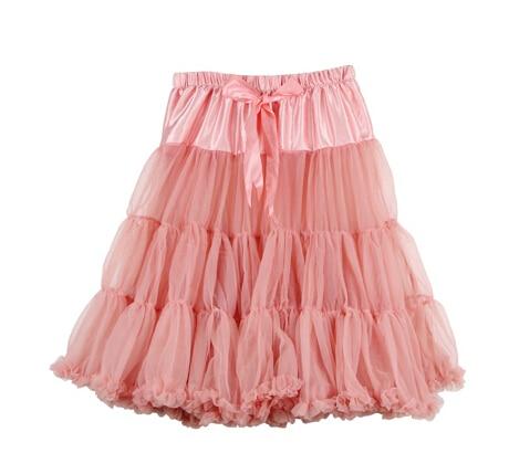 Евро ЗО, проверка, Нижняя юбка для женщин, шифоновая юбка-американка, юбка-пачка для взрослых, бальное платье, для танцев, летняя, 65 см, длинная юбка, сексуальная, однослойная - Цвет: Coral pink
