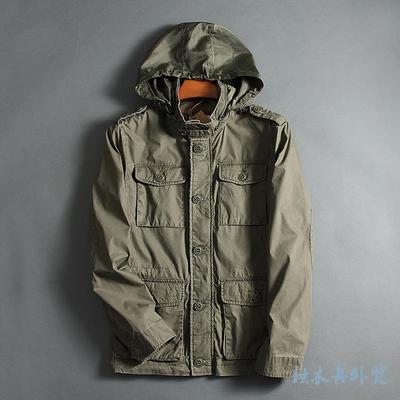 2017 Spring Autumn Men Fashion Jackets Water Wash Cotton Jacket Man Multi-pocket Jacket Casual Outerwear Plus Size S-XXL
