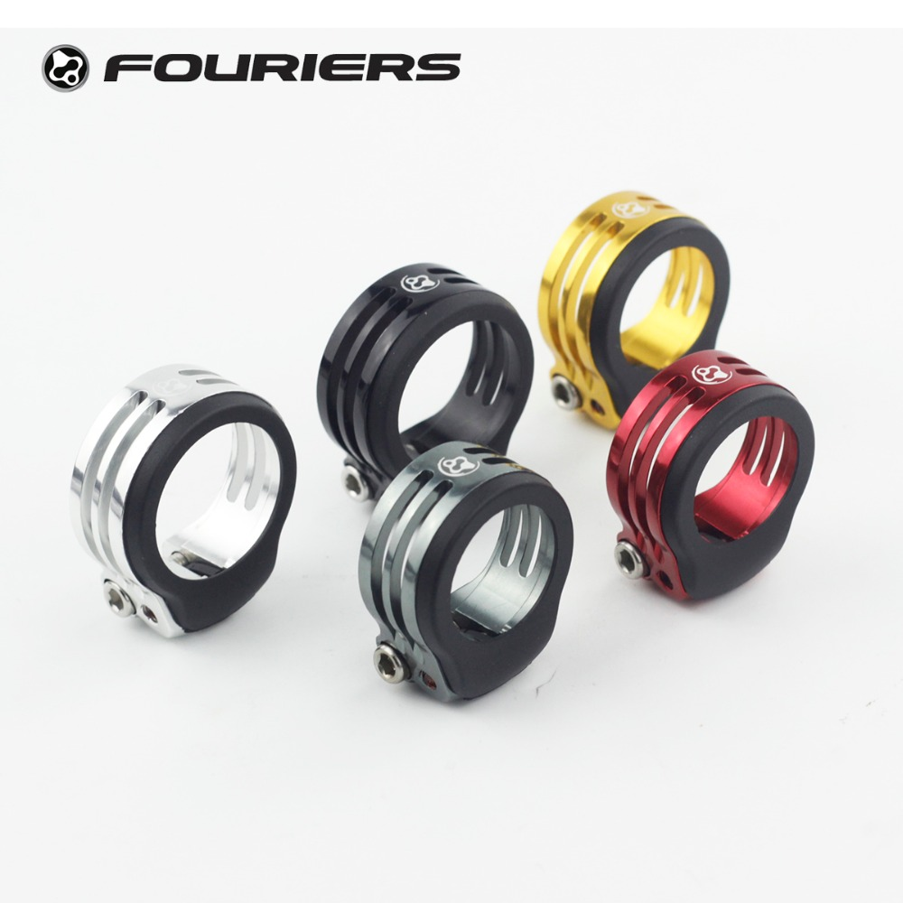 Fouriers Bike CNC Alloy Seatpost Clamp Protect Carbon Seatpost 31.8mm 34.9mm Rubber Waterproof