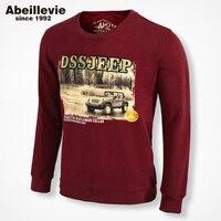 2015 New Fashion Knit Crewneck Cotton Men Sweatshirt European USA Style Men S Pullover Hoodies Athletic