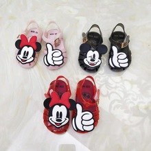 2017 Summer style children sandals Girls princess beautiful cartoon mickey shoes kids flat Sandals baby Shoes